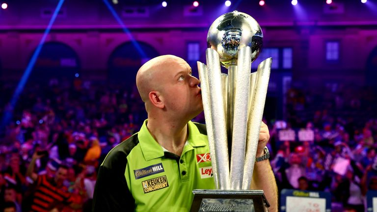 Michael van Gerwen wasn't at his best, but proved too strong for Michael Smith in Tuesday's final
