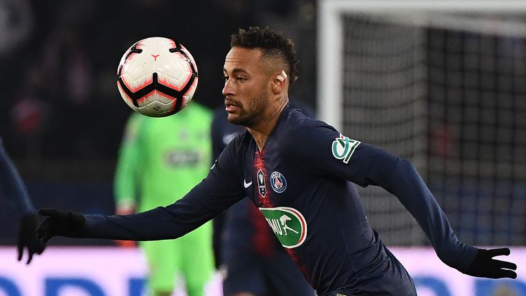 Neymar will miss both legs of the Champions League tie with Man Utd