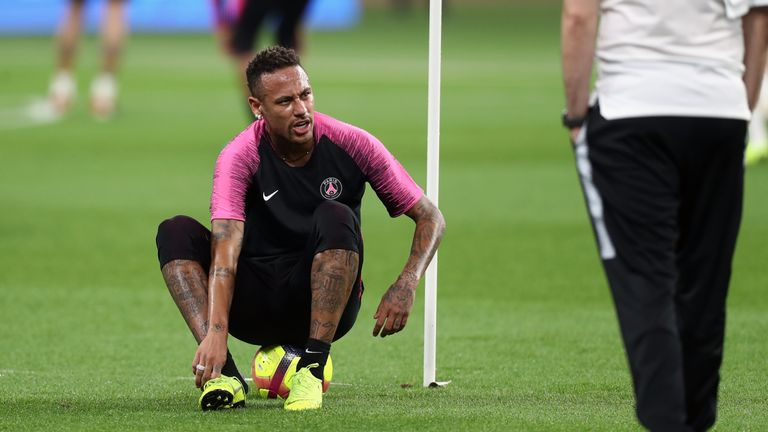 Neymar missed out on facing Man Utd in the Champions League because of his ankle problem