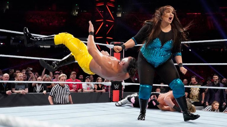Nia Jax gave and received plenty of intergender violence in a controversial Royal Rumble moment