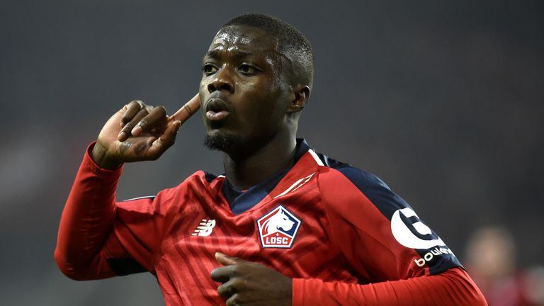 Nicolas Pepe has shone for Lille this season