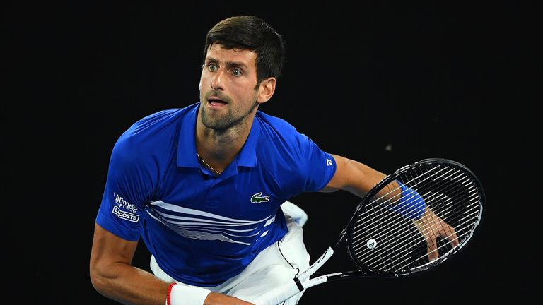 Novak Djokovic chalked up a straight sets win over Jo Wilfried Tsonga to reach the last 32 in Melbourne