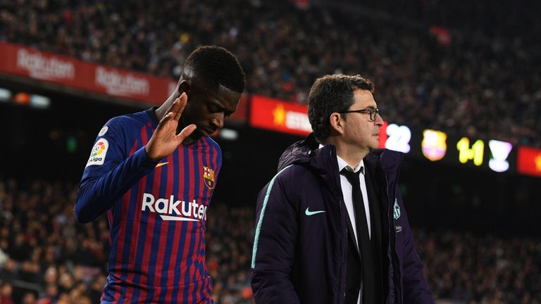 Barcelona's Ousmane Dembele to miss two weeks with sprained ankle | Football News |