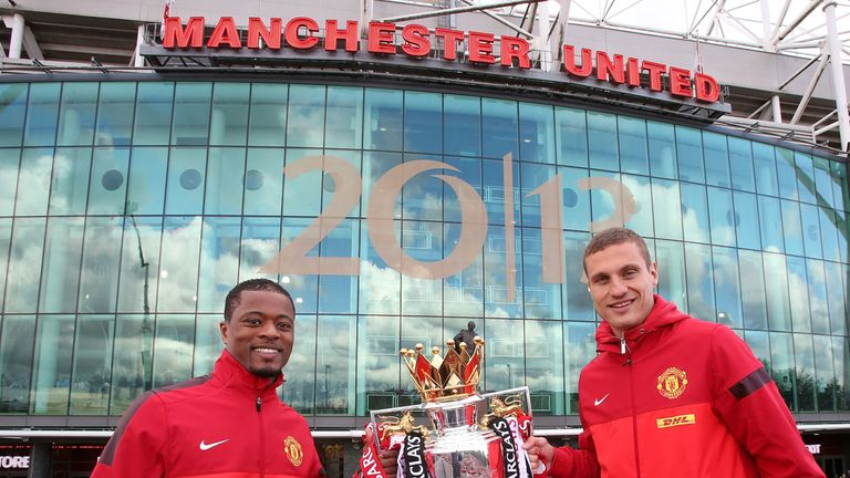 Patrice Evra and Nemanja Vidic both won five Premier League titles with United