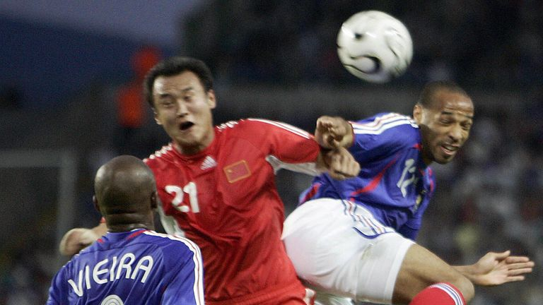 Vieira made 107 appearances for France while Henry played 123 times