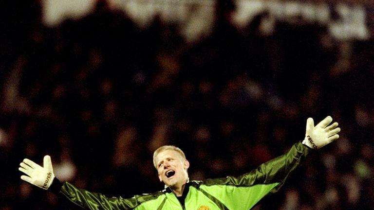 Peter Schmeichel was a key Manchester United figure in the 1990s
