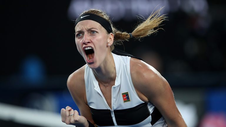 Petra Kvitova ended to hopes of Ashleigh Barty to reach the semi-finals