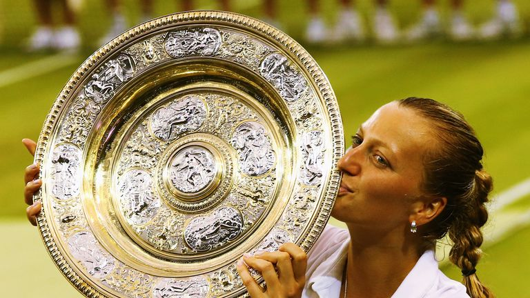 Petra Kvitova has won two Wimbledon titles - most recently in 2014