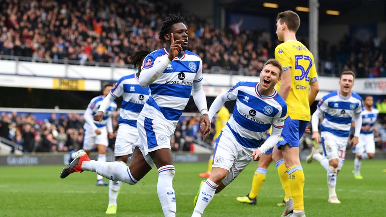 Aramide Oteh scored QPR's first from the penalty spot
