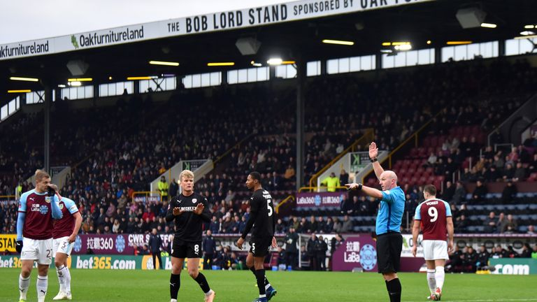 Referee Simon Hooper interrupts Matej Vydra's penalty-kick to  signal the VAR had spotted an offside