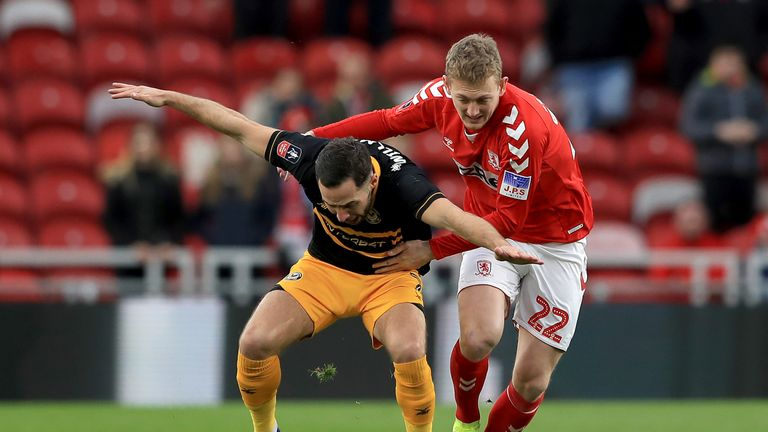 Newport and Middlesbrough drew 1-1 in the first meeting at the Riverside Stadium