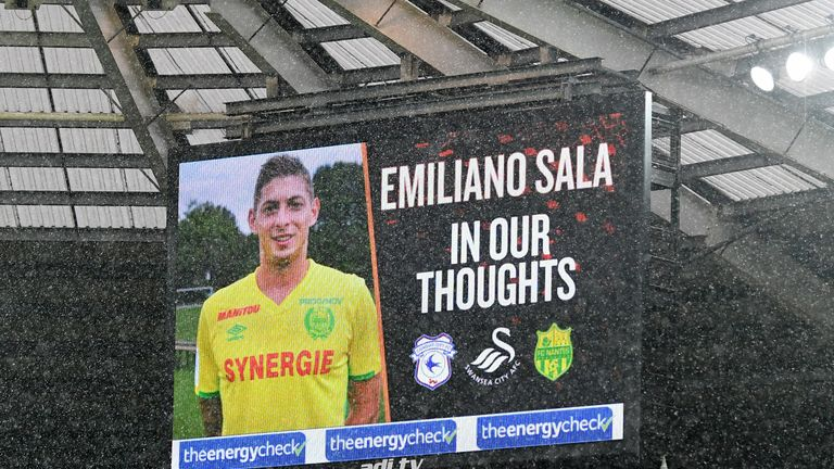 The footballing world has come out in support for  Sala