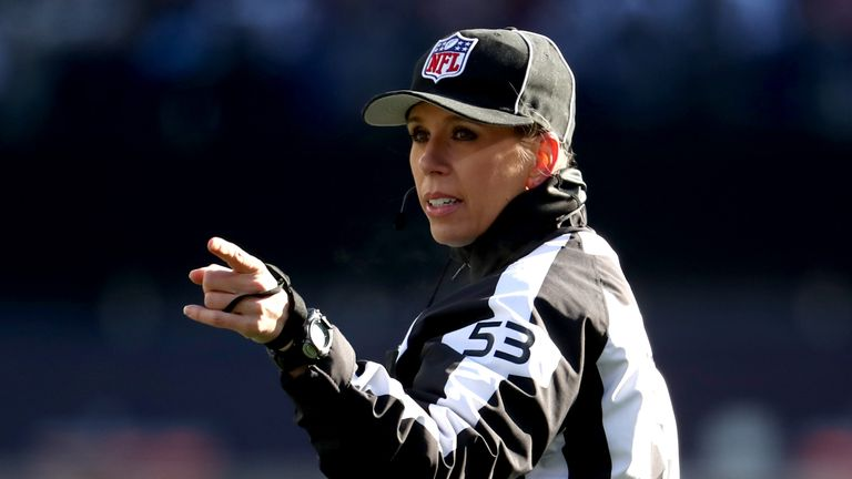 Sarah Thomas becomes the first female to officiate in an NFL playoff game