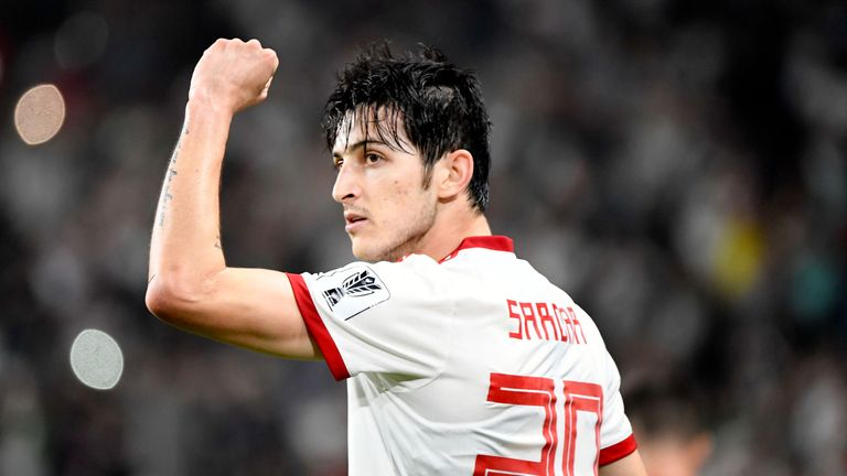 Sardar Azmoun scored four times during Iran's run to the Asian Cup semi-finals in January