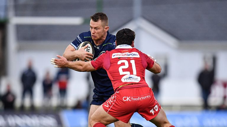 Sam Hidalgo-Clyne scored for the Scarlets in their victory