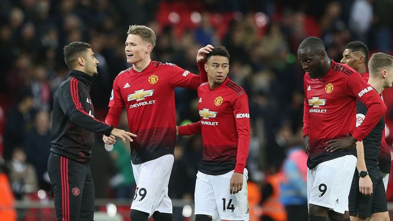 McTominay came on as a late substitute against Tottenham at Wembley on Sunday