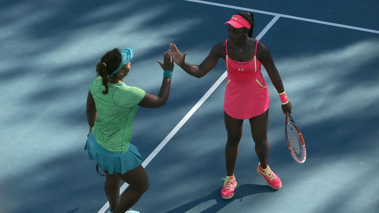 Sloane Stephens (R) and Taylor Townsend will meet competitively for the very first time in Melbourne