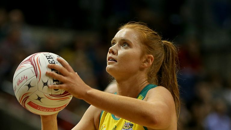 Stephanie Wood of Australia in action
