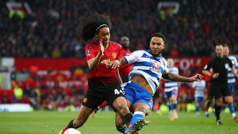 Tahith Chong made his United debut in the FA Cup win against Reading