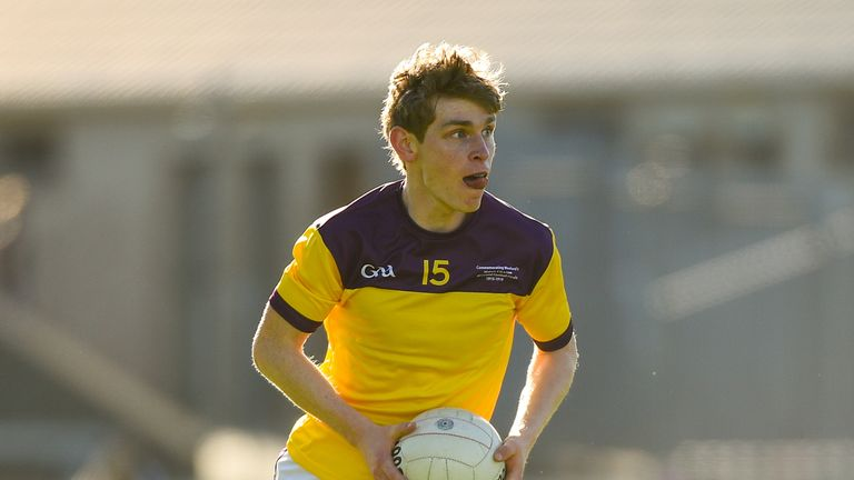 The Wexford footballers wore a commemorative jersey to mark the centenary of the 1918 victory last May