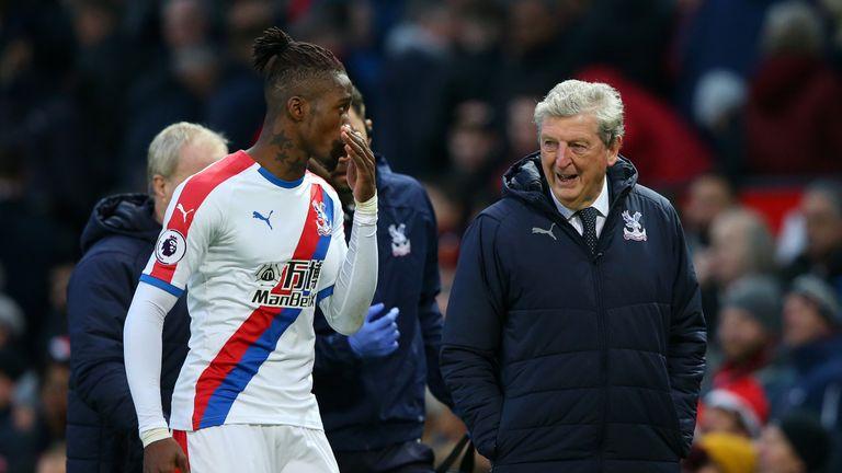 Roy Hodgson hoping Crystal Palace forward Wilfried Zaha avoids further ban for sending off