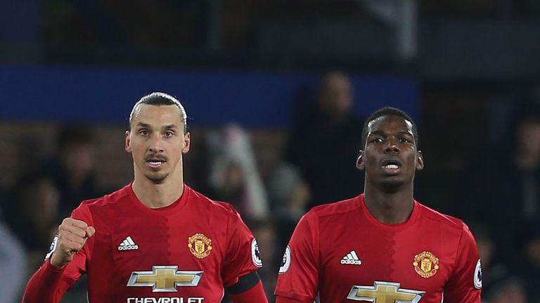 Ibrahimovic played with Paul Pogba at United