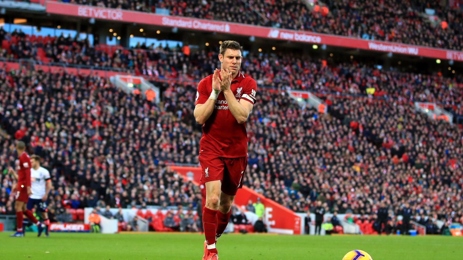 Liverpool Vs Chelsea James Milner On Bench Eden Hazard