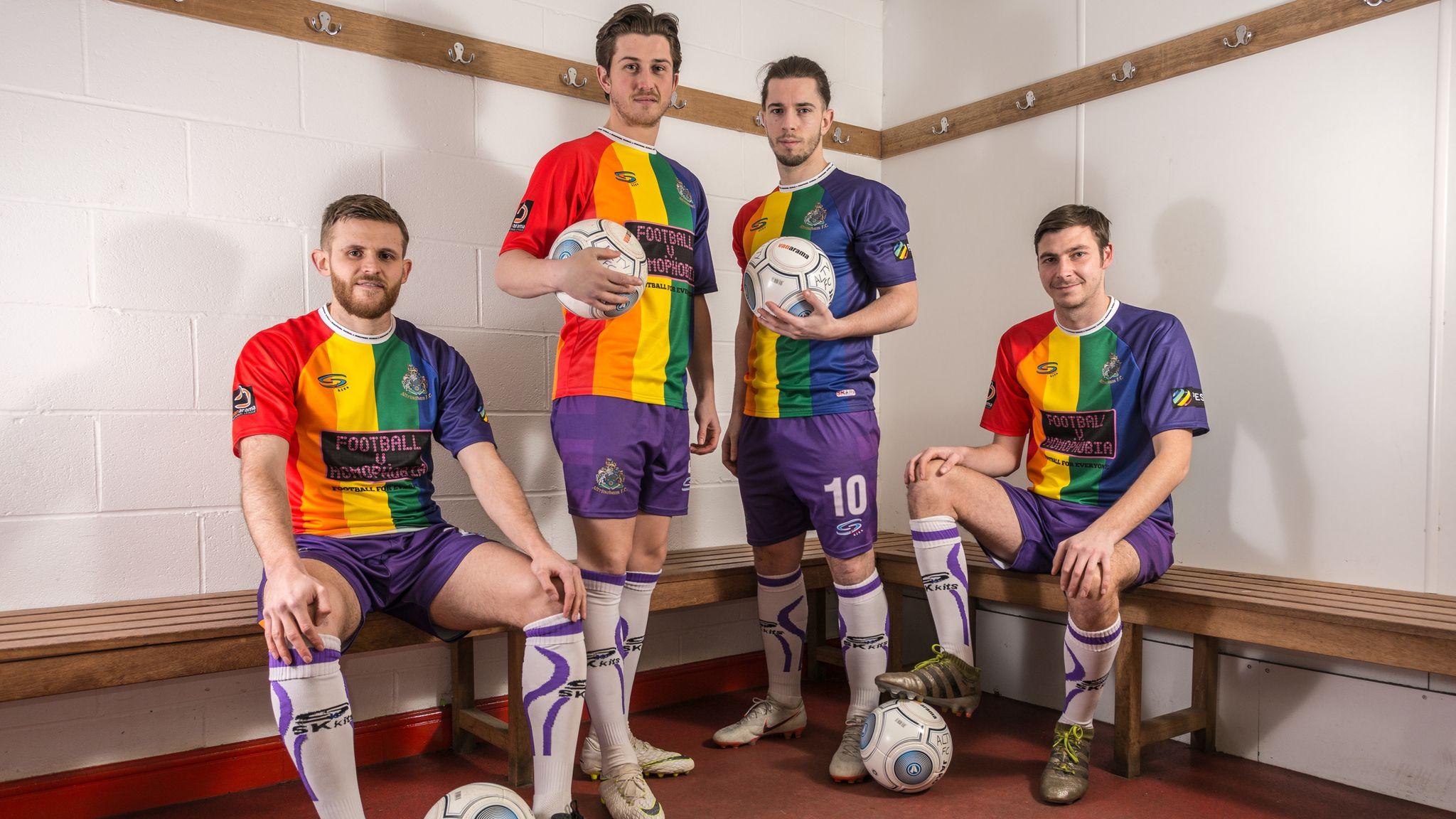 0dd92778a23 Altrincham FC's rainbow kit for Football v Homophobia sparks global  interest   Football News   Sky Sports