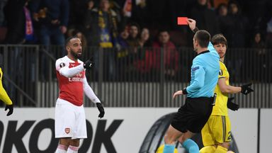 Lacazette banned for both Rennes legs