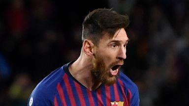 Lionel Messi scored for Barcelona