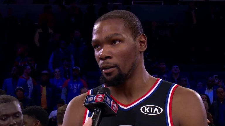 Kevin Durant wins All-Star MVP for second time | NBA News |