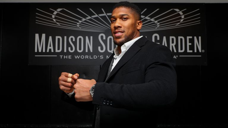 Heavyweight champion Anthony Joshua takes on Andy Ruiz Jr at Madison Square Garden on June 1