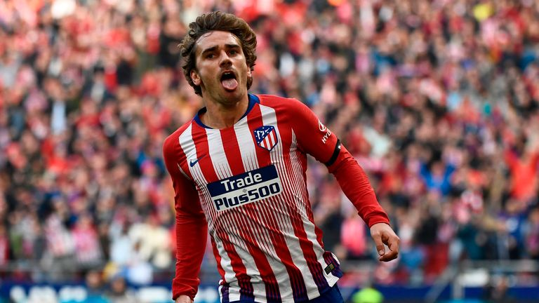 Atletico Madrid's forward Antoine Griezmann remains a Barcelona target
