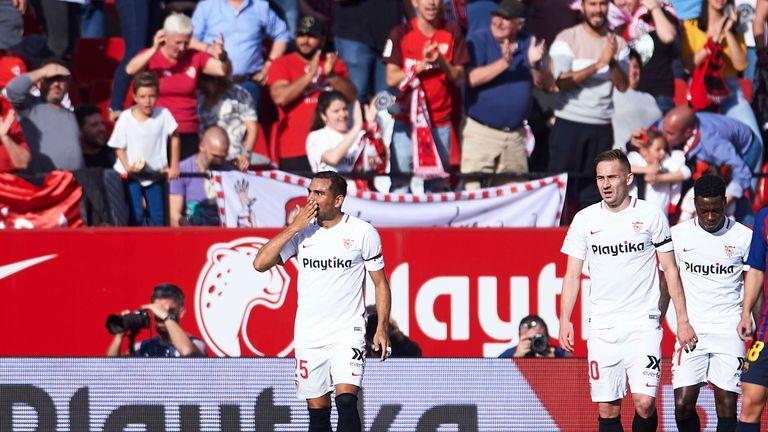 Gabriel Mercado put Sevilla 2-1 up
