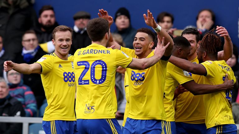Che Adams scored a hat-trick in the first half