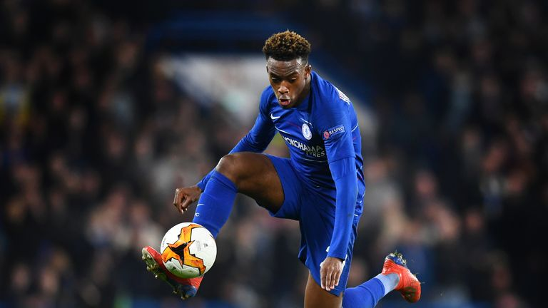 Hudson-Odoi started the game for Chelsea on Thursday