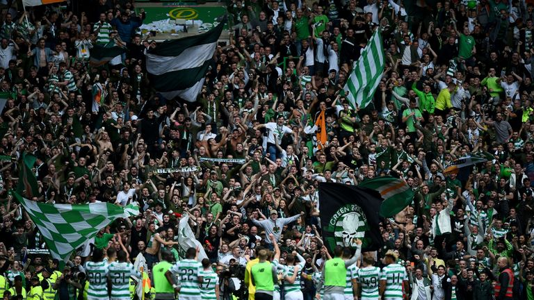 Thousands of Celtic fans arrived in Valencia ahead of their Europa Leauge game despite only 2,500 of them having tickets
