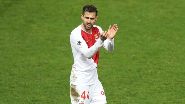 Cesc Fabregas joined Monaco in January