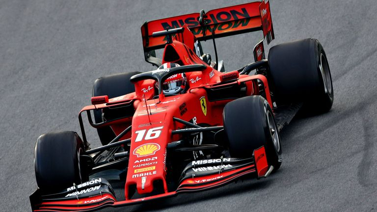 f1 testing, day two first test: charles leclerc fastest for ferrari