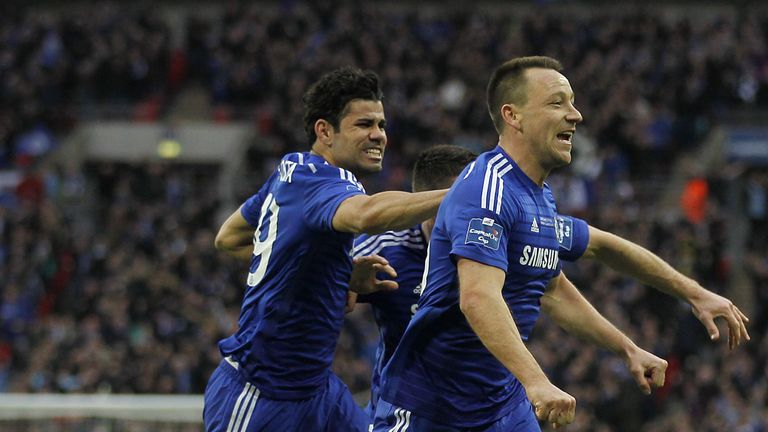 John Terry scored the opening goal in the 2-0 win over Spurs