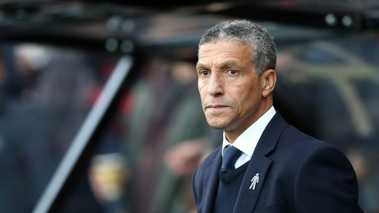 """Moore says he has """"huge admiration"""" for Brighton manager Chris Hughton"""