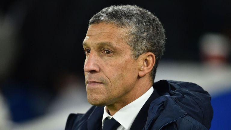 Chris Hughton's Brighton lost 3-1 at home to Burnley