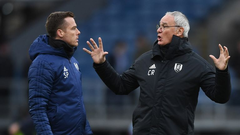 Then assistant manager Parker with Claudio Ranieri