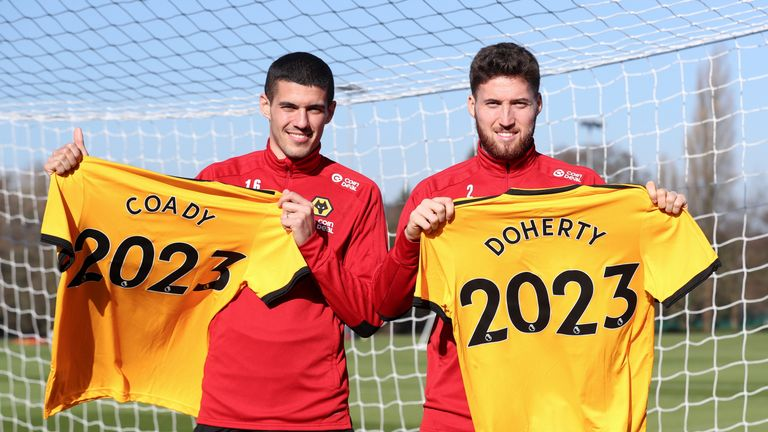 Conor Coady and Matt Doherty have committed to Wolves until 2023