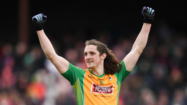 Kieran Molloy of Corofin celebrates after their victory over Gaoth Dobhair