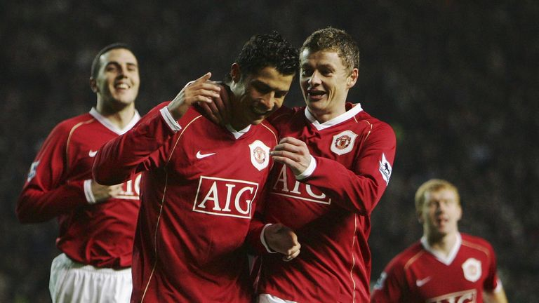 Solskjaer played with Ronaldo for four years at Manchester United