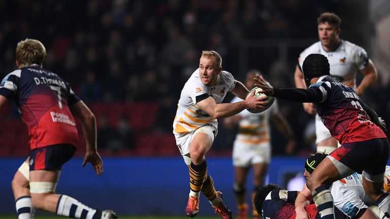 Dan Robson looks to attack for Wasps