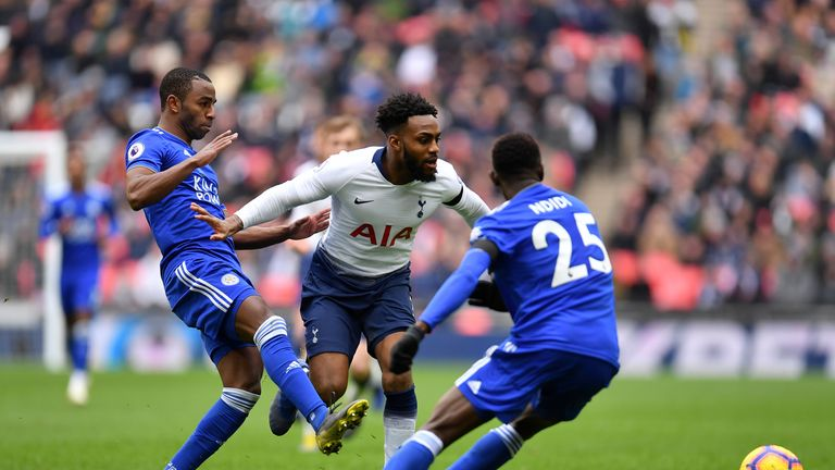Danny Rose was injured in the closing stages against Leicester