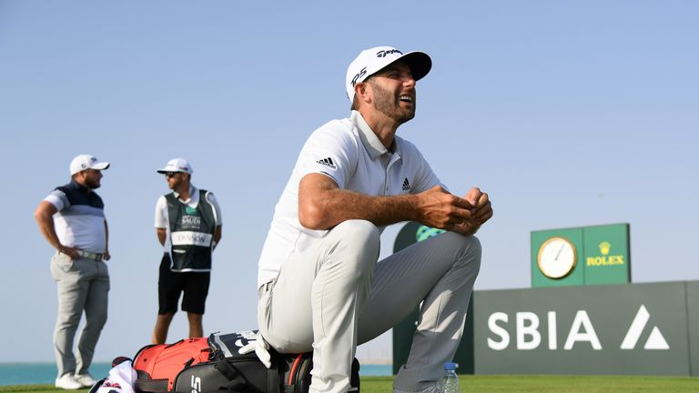 Dustin Johnson was four clear after four straight birdies