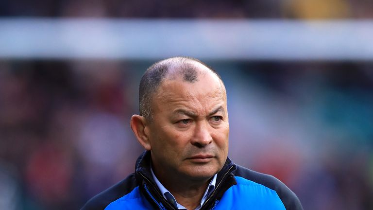 England head coach Eddie Jones prior to kick-off at the Six Nations match against France at Twickenham Stadium
